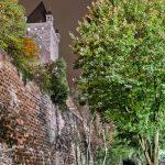 Rückseite der Burg vom Burggraben aus