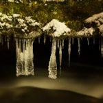 Macro von Eisformen