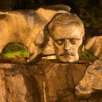 Bild einer Büste von Sibelius