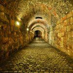 Blick im Inneren eines Tunnels