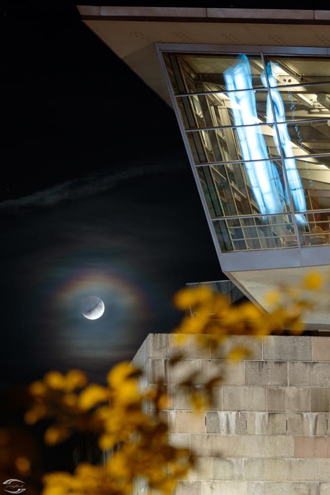 Bild von der partiellen Mondfinsternis