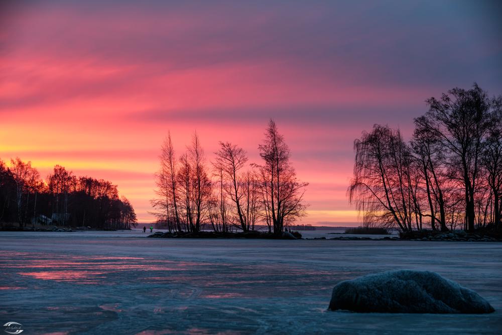 Morgens auf dem Pyhäjärvi