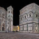 Panorama an der Piazza del Duomo bei Nacht