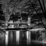 Maxbrücke in schwarz-weiß
