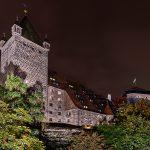 Rückseite der Kaiserburg bei Nacht