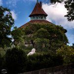 Bild der Statue des Beethoven vor dem Neutorturm