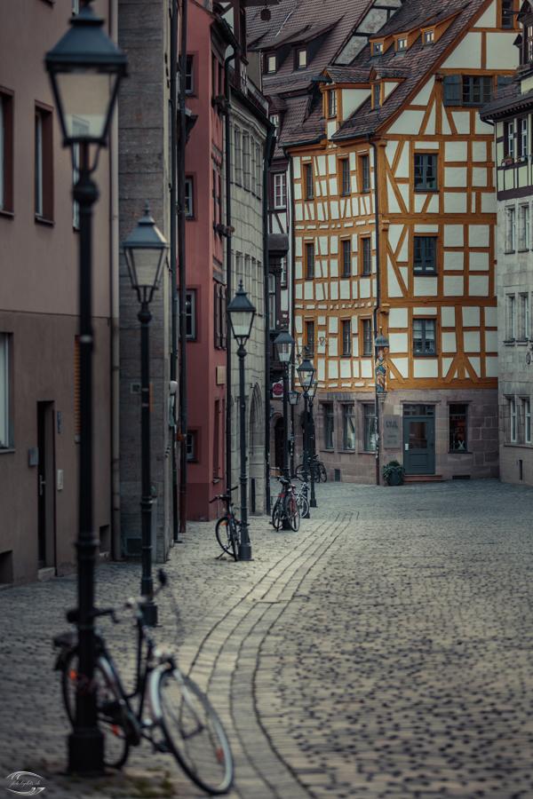 Blick in eine Gasse in Nürnberg
