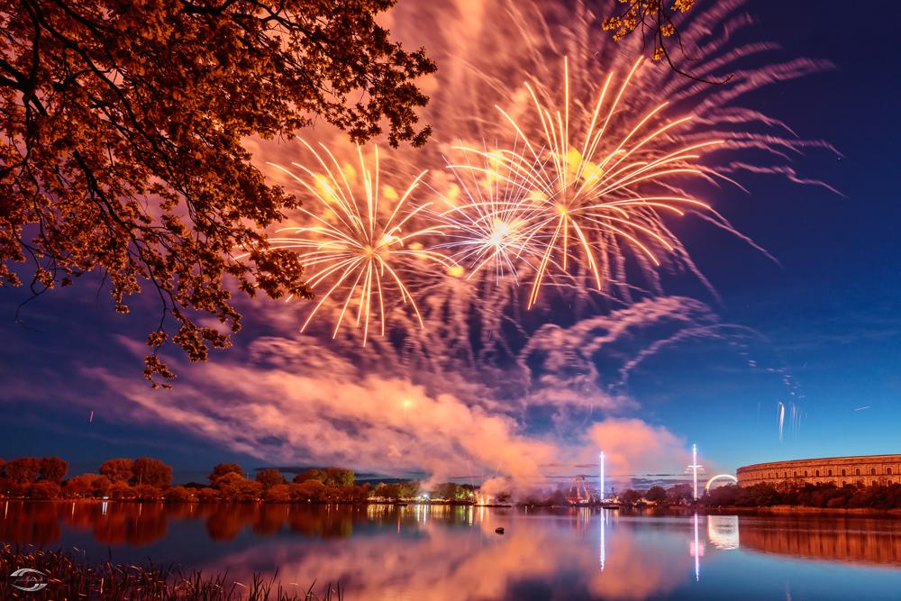 Feuerwerk über dem Frühlingsfest