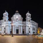 Panorama der Piazza Navona bei Nacht