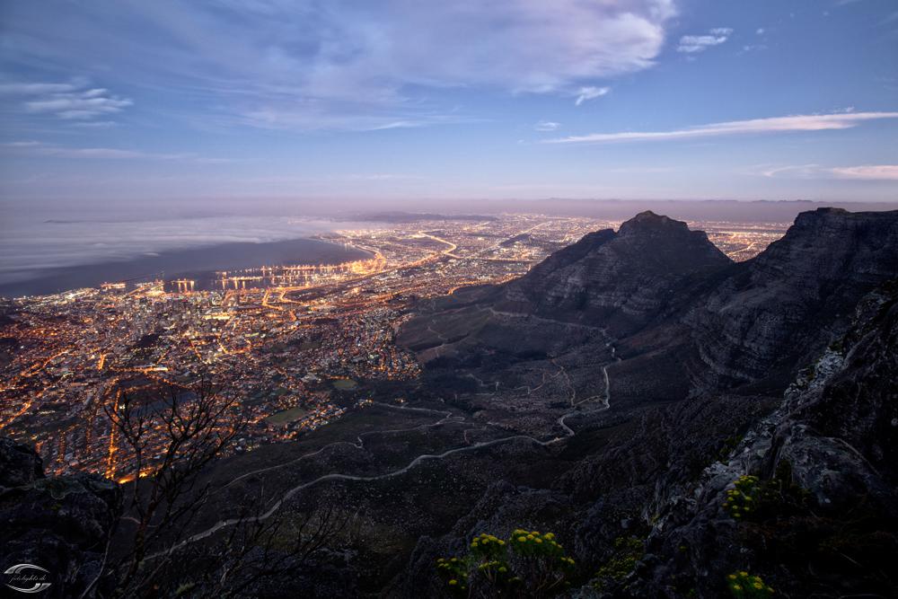 Tafelberg bei Sonnenuntergang