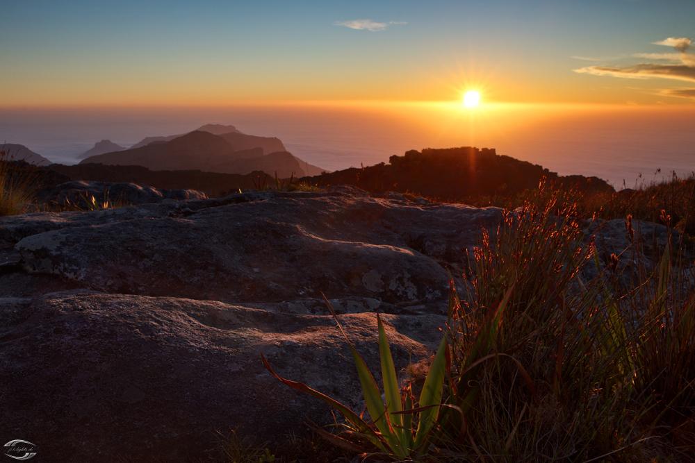 Sonnenuntergang auf dem Tafelberg
